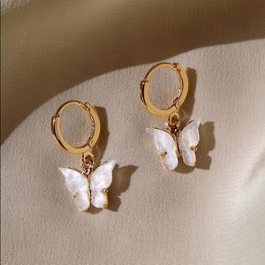 """""""DREAMING OF YOU"""" DAINTY  HOOP BUTTERFLY E…"""